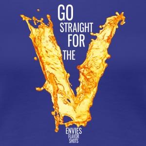 Edgy Go For The V White - Women's Premium T-Shirt