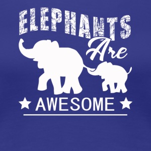 Elephants Tee Shirt - Women's Premium T-Shirt