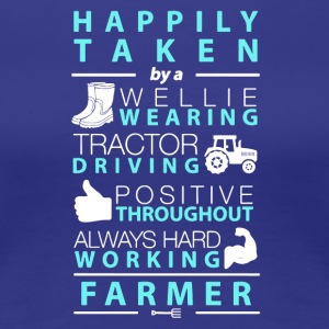 Farmer Hard Working T Shirt - Women's Premium T-Shirt