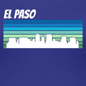 Retro El Paso Skyline - Women's Premium T-Shirt