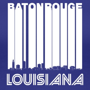 Retro Baton Rouge Louisiana Skyline - Women's Premium T-Shirt