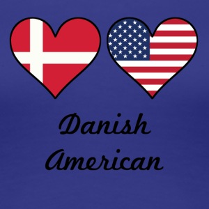 Danish American Flag Hearts - Women's Premium T-Shirt
