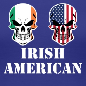 Irish American Flag Skulls - Women's Premium T-Shirt