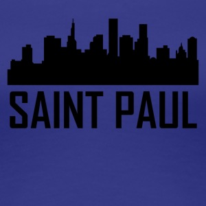 Saint Paul Minnesota City Skyline - Women's Premium T-Shirt