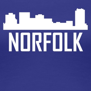 Norfolk Virginia City Skyline - Women's Premium T-Shirt