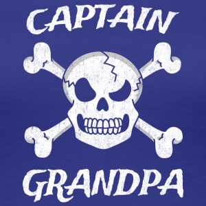 Captain Grandpa Funny Pirate Fun Halloween Costume - Women's Premium T-Shirt
