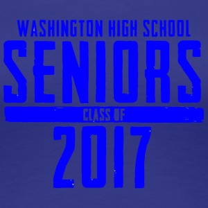 Washington High School Seniors Class of 2017 - Women's Premium T-Shirt
