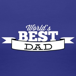 world_best_dad_white - Women's Premium T-Shirt
