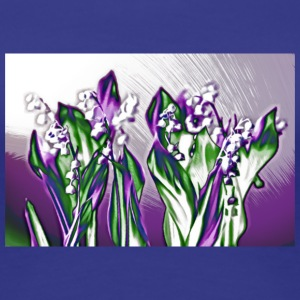 Lavender Lily of the Valley Sketch - Women's Premium T-Shirt