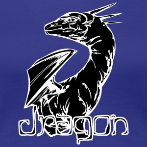 dragon_looking_back_black - Women's Premium T-Shirt