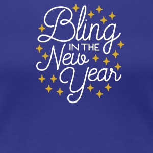 Bling In The New Year with Stars - Women's Premium T-Shirt
