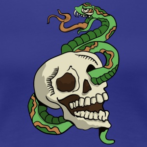 Skull and Snake Tattoo - Women's Premium T-Shirt