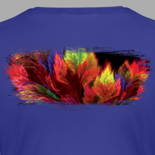 Nature Fire Brush Stroke - Women's Premium T-Shirt