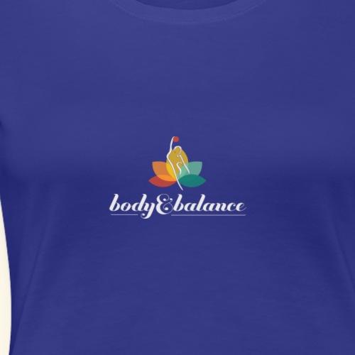 body and balance logo white text center - Women's Premium T-Shirt