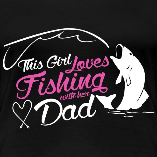 Girl like fishing with dad