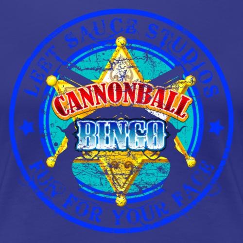 Vintage Cannonball Bingo Badge Blue - Women's Premium T-Shirt