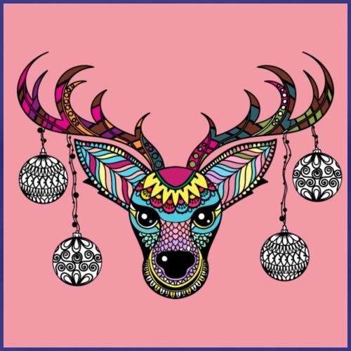 christmas Deer/white ornaments - Women's Premium T-Shirt