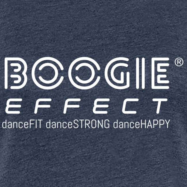 boogie effect fit strong happy logo white
