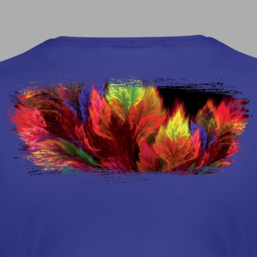 Nature Fire Brush Stroke - Women's Premium T-Shirt