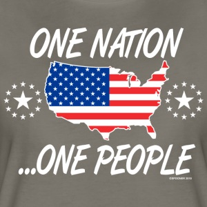 One Nation One People 2012 FRONT TRANSPARENT BACKG - Women's Premium T-Shirt