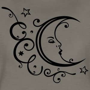 Filigree moon with stars. - Women's Premium T-Shirt