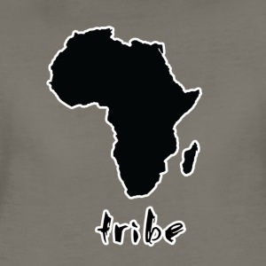 Tribe (Africa, Black w/ White Outline) - Women's Premium T-Shirt