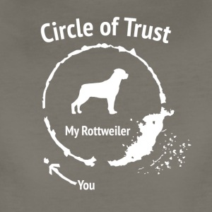 Funny Rottweiler shirt - Circle of Trust - Women's Premium T-Shirt