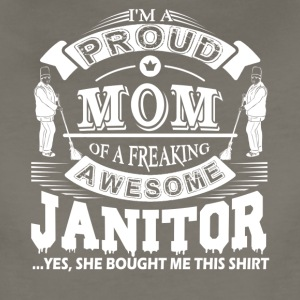 Proud Mom Of Awesome Janitor Shirt - Women's Premium T-Shirt