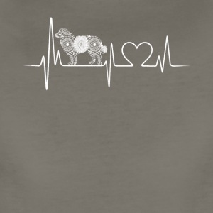 bernese mountain dog heartbeat - Women's Premium T-Shirt