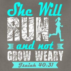 She Will Run And Not Grow Weary T Shirt - Women's Premium T-Shirt