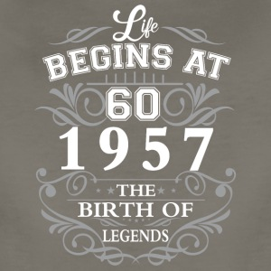 Life begins 60 1957 The birth of legends - Women's Premium T-Shirt