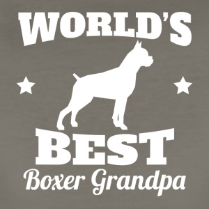 Worlds Best Boxer Grandpa - Women's Premium T-Shirt