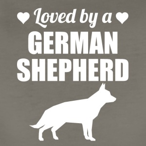 Loved By A German Shepherd - Women's Premium T-Shirt