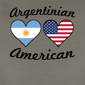 Argentinian American Flag Hearts - Women's Premium T-Shirt