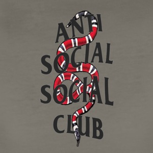 Anti social social club x snake - Women's Premium T-Shirt