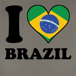 I Love Brazil Brazilian Flag Heart - Women's Premium T-Shirt