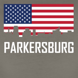 Parkersburg West Virginia Skyline American Flag - Women's Premium T-Shirt