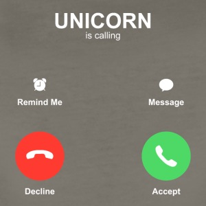 unicorn IPhone call Accept Decline - Women's Premium T-Shirt