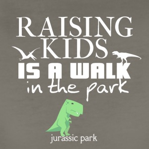 Raising kids is a walk in the park (Jurassic park) - Women's Premium T-Shirt