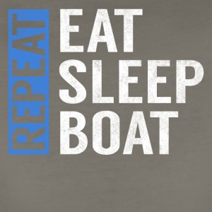 Eat Sleep Boat Repeat Funny Sailing Boating Gift - Women's Premium T-Shirt