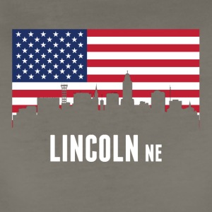 American Flag Lincoln Skyline - Women's Premium T-Shirt