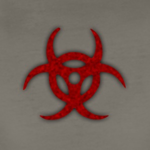 TOXIC BIOHAZARD RED BLOOD SYMBOL - Women's Premium T-Shirt