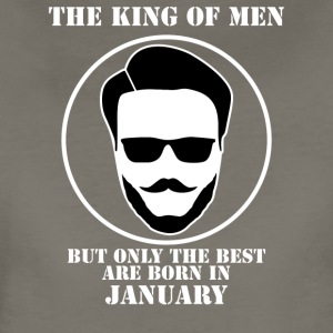King Of Men Born In January - Women's Premium T-Shirt