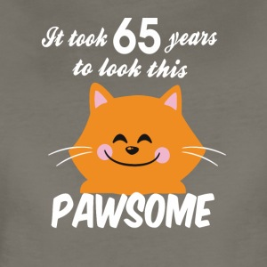 It took 65 years to look this pawsome - Women's Premium T-Shirt