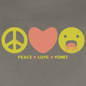 Peace love vomit anti hippie smiley emoticon - Women's Premium T-Shirt