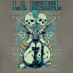 la rebel skulls with guns and guitars - Women's Premium T-Shirt