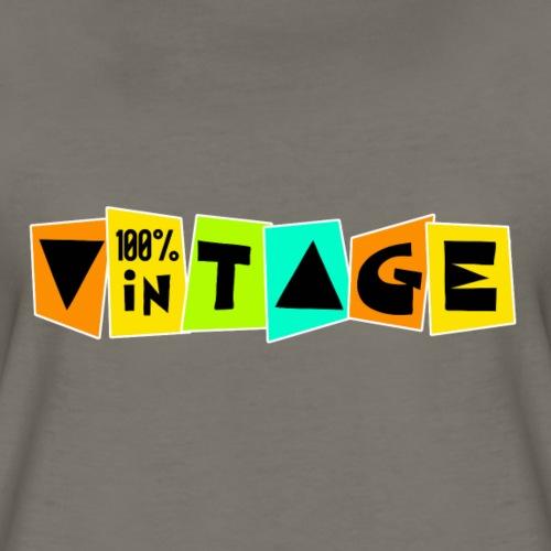 100% vintage - Women's Premium T-Shirt