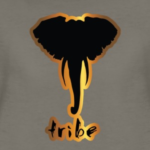 Tribe #3 (Africa, Gold & Black) - Women's Premium T-Shirt