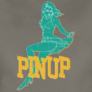 laying_pinup_sexy_girl_vintage - Women's Premium T-Shirt
