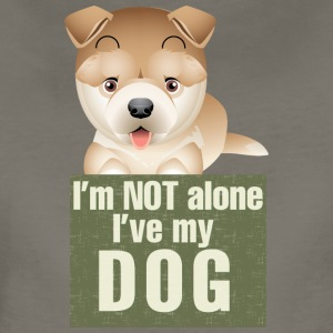 I am not alone i have my dog 4 - Women's Premium T-Shirt
